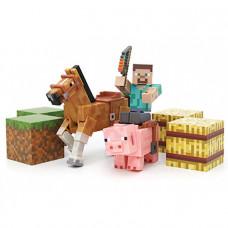 Saddle Pack / Набор: Стив, лошадь и свинья с блоками